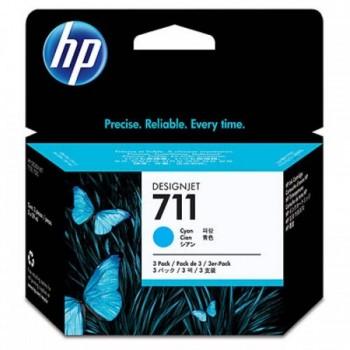 HP 711 3-pack 29-ml Cyan Ink Cartridges (CZ134A)
