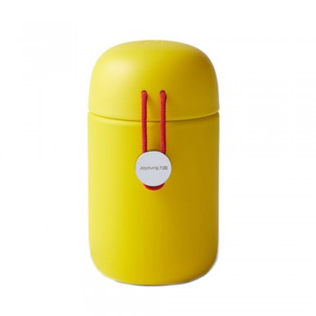 Joyoung 316L Stainless Steel Mini Portable Cute with Red String Thermal Flask - 320ml Yellow