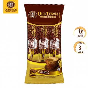 OLDTOWN White Coffee 3-in-1 Classic Instant Premix Coffee Convenient Pack (3s x 1 Pack)