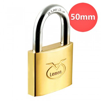 50mm Lemen Brass Padlock Brass Cylinder Iron Key