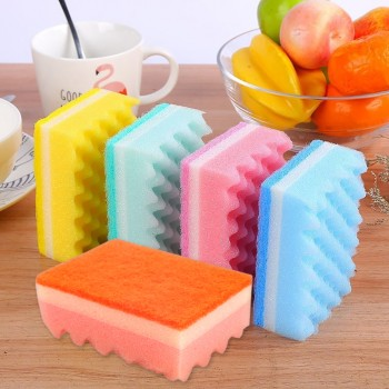 5pcs Kitchen Cleaning Wave Sponge