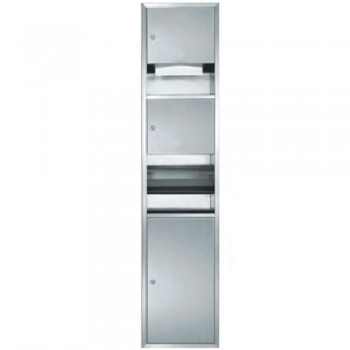 Stainless Steel 3 in 1 Paper Towel Dispenser, Hand Dryer & Disposal (Recessed) PTD-194/SS (Item No: F13-121)