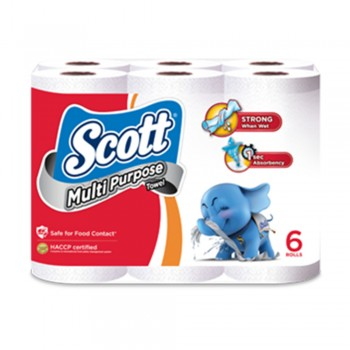 Scott Kitchen Towel (Multi-purpose) 60's X 6 Rolls