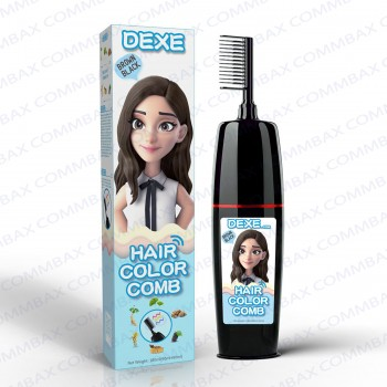 DEXE Colour Comb Packing Hair Color Shampoo 100+100ml (Brown Black)