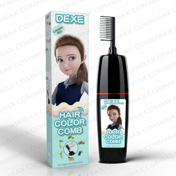 DEXE Colour Comb Packing Hair Color Shampoo 100+100ml (Chestnut Brown)