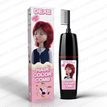 DEXE Colour Comb Packing Hair Color Shampoo 100+100ml (Cherry Red)