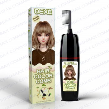 DEXE Colour Comb Packing Hair Color Shampoo 100+100ml (Light Brown)