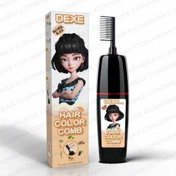 DEXE Colour Comb Packing Hair Color Shampoo 100+100ml (Natural Black)