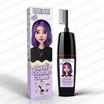 DEXE Colour Comb Packing Hair Color Shampoo 100+100ml (Purple Blue)