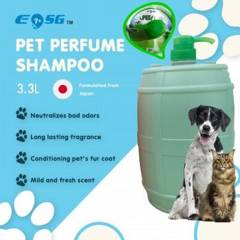 EOSG 7+ Pet Shampoo Perfume Alkaline Shampoo for Dog, Cat & Small Animal (3.3L) - Mild Alkaline Pets Shampoo, Formulated from Japan 3300ml