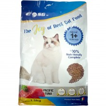 EOSG 7+ Cat Food Pacific Tuna Flavor (1.5kg) - 100% Nutritionally Complete Dry Cat Food, For Cat 1+ Year Old, Strengthens Immune System, Promotes Healthy Urinary Tract - Makanan Kucing Kering Tuna - 太平洋金枪鱼味干猫粮 (Product from Italy)