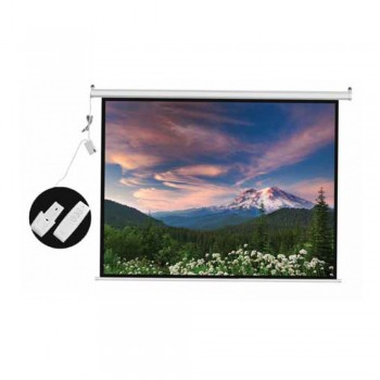 DP Screen Motorised Projector Screen Electric Projection Screen - Matte White Surface - DP-ELC-120D - Screen Ratio 6' x 8' (4:3 Format) - Screen Size 2440 x 1830mm