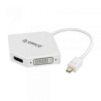 Orico DMP-HDV3S Mini Display Port to HDMI(4K)+DVI+VGA Adapter (DMP-HDV3S) - White