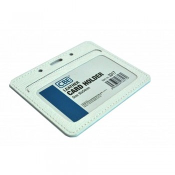 CBE Leather Card Holder 3317 - White (Single Sided) (Item no: B10-43 W) A1R3B65