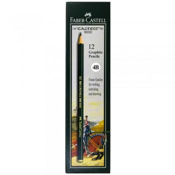 Faber Castell Graphite Pencil Castell 9000 4B (12 pcs)