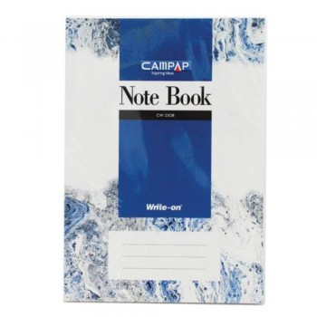 Campap Cw2308 A4 Pvc Cover Note Book 280P (Item No: C02-08) A1R4B122