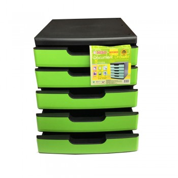 Niso 5 Tier Letter Tray Green (8822)