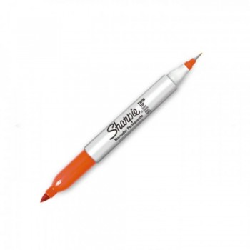 Sharpie Twin Tip Permanent Marker - Orange (Item No: A12-19 TT OR) A1R3B27