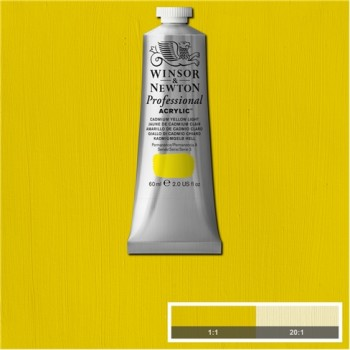 W&N Artists Acrylic Colour 60ml 113 Cadmium Yellow Light S3